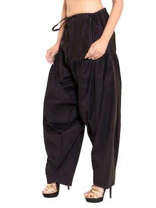 black cotton patiyala salwars - 11119993 - Standard Image - 6