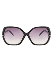 Zyaden Black Rectangle Women Sunglasses - By