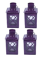 Sutra Decor Tealight Hut Candle Holder Lantern  Set 4 - By