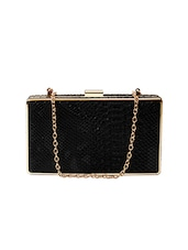 black leatherette clutch -  online shopping for clutches