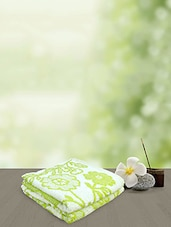 Yellow Spun Green Jacquard Sundsvall Bath Towel -  online shopping for towels