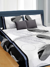 Feathers Printed Premium Satin Double Bedsheet Set -  online shopping for bed sheet sets