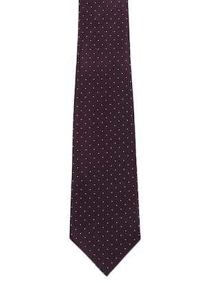 purple  polyester tie - 11294681 - Standard Image - 3