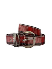 Robb Club Women Red  Artificial Leather Belt - By