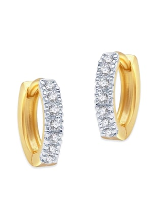 white gold plated bali earring - 11343249 - Standard Image - 3
