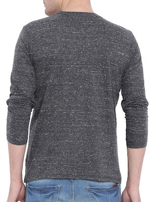 grey cotton melange t-shirt - 11360714 - Standard Image - 3