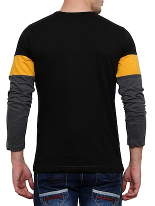 colour block cotton t-shirt - 11379667 - Standard Image - 3