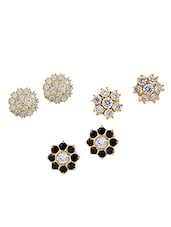 Black Gold Plated Studs Earring - By