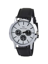 white leather men analog watch -  online shopping for Men Analog Watches