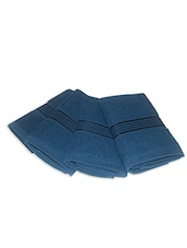 blue cotton face towel set of 4 -  online shopping for towels