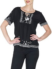 black rayon top -  online shopping for Tops