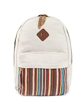 beige canvas backpack -  online shopping for backpacks
