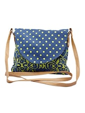 Blue, Green Canvas Sling Bags - By