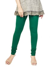 green color, cotton legging -  online shopping for Leggings