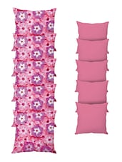 Set Of 10 Multi Colored Poly Silk Cushion Cover - By