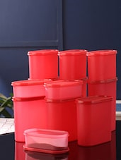 Tallboy Mahaware Space Saver Red Assorted Jar Set of 12 -  online shopping for Containers