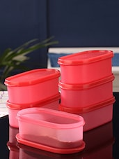 Tallboy Mahaware Space Saver Red Oval 600 ml Jar - Set of 6 -  online shopping for Containers