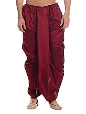 maroon cotton  dhoti -  online shopping for Dhoti