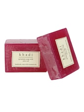 Khadi Geranium Soap With Olive Oil - Pack Of 2, 250 Gms - By