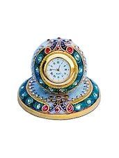 blue marble embellished table clock -  online shopping for Table Clocks