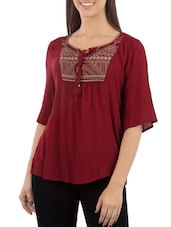 red regular top -  online shopping for Tops