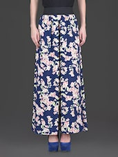 floral print poly crepe palazzos -  online shopping for Palazzos