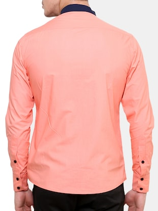pink cotton casual shirt - 11536376 - Standard Image - 3