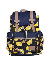 Multi coloured canvas printed backpack -  online shopping for backpacks