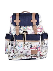 multi color, canvas printed backpack -  online shopping for backpacks