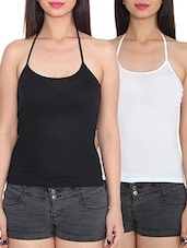 black viscose camisole -  online shopping for Camisoles