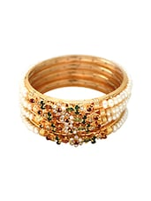 Multi Gold Plated Bangle - By