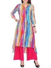 Multicolor Rayon Long  Kurta - By