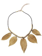 Gold Metal Leaf Necklace - By
