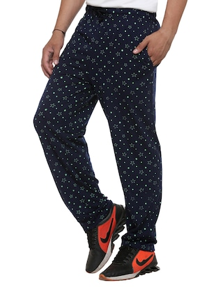 multi colored cotton  ankle length track pant - 11677985 - Standard Image - 3