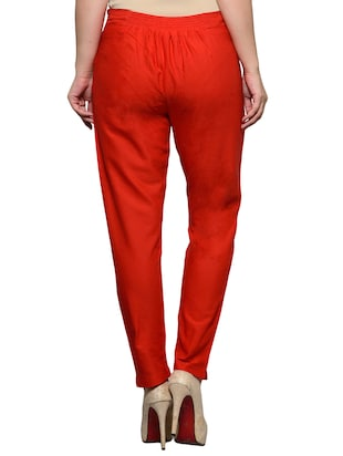 red cotton trouser - 11698446 - Standard Image - 3