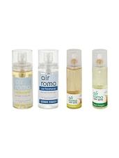 AirRoma Combo Of 4, Car Freshener 60ml, Car Freshener 60ml, Jasmine Air Freshener Spray 200ml & Mogra Air Freshener Spray 200ml - By