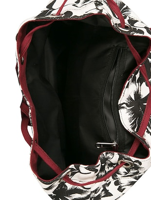 printed canvas backpack - 11734938 - Standard Image - 3
