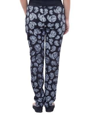 black cotton track pants - 11749937 - Standard Image - 3