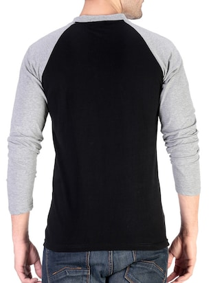 black cotton raglan t-shirt - 11788132 - Standard Image - 3