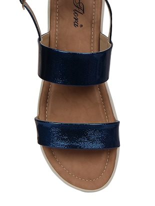 blue back strap faux leather sandal - 11816768 - Standard Image - 3
