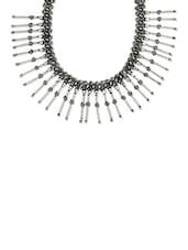Silver Brass Necklace - By