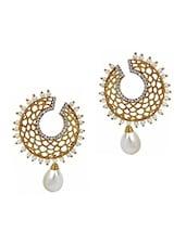 White Copper Drop Earring - By