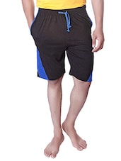 black solid cotton short -  online shopping for Shorts