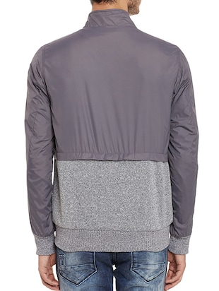 grey nylon quilted jacket - 11854096 - Standard Image - 3