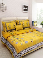 Multicolored Screen Block Print Rajasthani Double Bed sheet set -  online shopping for bed sheet sets
