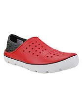 red slip on clog shoe -  online shopping for clogs