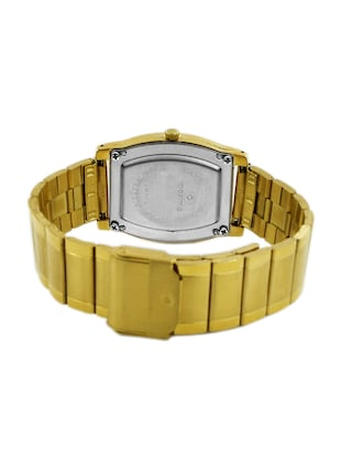 gold stainless steel wrist watch - 11903703 - Standard Image - 3