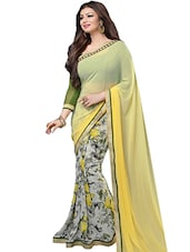 yellow chiffon saree -  online shopping for Sarees