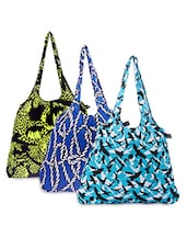 Set Of 3 Cotton Printed Tote - By