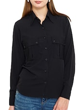 black none regular shirt -  online shopping for Shirts
